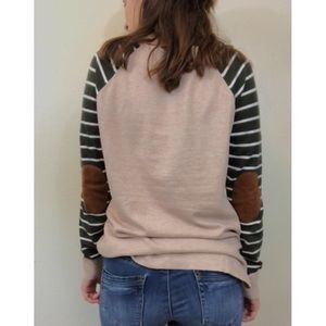 Staccato soft stripe sleeve with elbow patches